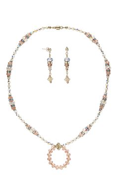 Jewelry Design - Single-Strand Necklace and Earring Set with Swarovski Crystal and 14Kt Gold-Filled Beads - Fire Mountain Gems and Beads