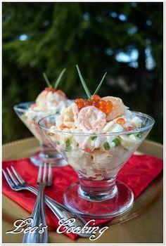 Lea's Cooking: The Best Seafood Salad Recipe {Cалат из Mорепродуктов}
