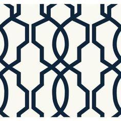 60.75 sq. ft. Ashford Geometrics Hourglass Trellis Wallpaper  $57.59/roll