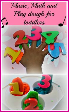 Music, math and play dough fun for toddlers