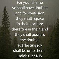 Isaiah 61 : 7  ( KJV )