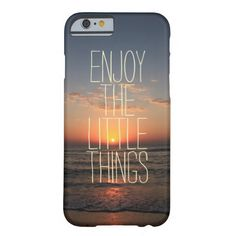 Inspirational Enjoy the Little Things Quote on iPhone Case