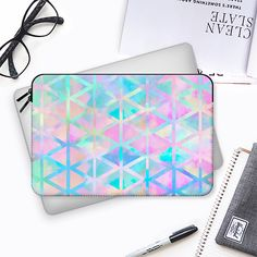 Pink pastel aztec pattern Macbook 12 sleeve by Marta Olga Klara | Casetify