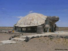 """""""Turtle Cafe"""" -- [This two storey turtle construction houses the bar and restaurant of the Bayanzag Tourist Camp - Gobi Desert - Mongolia]~[Photograph courtesy of DAVE on Daily Picks and Flicks - May 8 2012]'h4d'121223"""