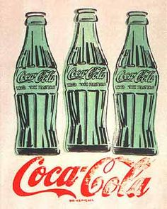 Andy Warhol started painted Coca-cola into his Pop art way of painting. Coke along with Campbells Soup were items that were being mass pro. Coca Cola Vintage, Coca Cola Ad, Coca Cola Bottles, Pepsi, Coke Ad, Andy Warhol Pop Art, Andy Warhol Obra, Robert Rauschenberg, Richard Hamilton