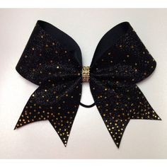 3inch Cheer Bow With Tons of Bling Choose Your Color Competition Bow ($18) ❤ liked on Polyvore featuring accessories, hair accessories, black, ties & elastics and hair bow accessories