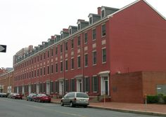 Renovated rowhouses in West Baltimore - Known as Pascault Row - Built 1816