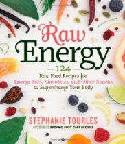 Raw Energy: 124 Raw Food Recipes for Energy Bars, Smoothies, and Other Snacks to Supercharge Your Body - I own this. Great recipes for snacks and health but no photos of the recipes themselves :( Raw Energy, Energy Bars, Natural Energy, Energy Snacks, Organic Recipes, Raw Food Recipes, Healthy Recipes, Vegetarian Recipes, Healthy Sugar