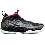 Buy Nike Air Foamposite Pro Yeezy Black Laser Crimson Online $129.70  http://www.blackonshoes.com/nike+air+foamposite