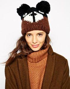 Pull&Bear Knitted Teddy Bear Hat