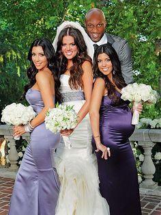 KHLOE'S A RUNAWAY BRIDE photo | Khloe Kardashian, Kim Kardashian, Kourtney Kardashian, Lamar Odom