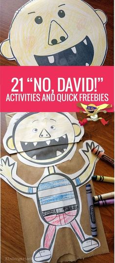 quick Art therapy activities 21 No David Activities and Quick Freebies - this list is perfect for back to school 1st Day Of School, Beginning Of The School Year, Back To School Art, Back To School Crafts For Kids, Middle School, Starting School, High School, Art Therapy Activities, Literacy Activities