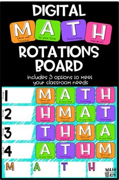 What is Mental Math? Well, answer is quite simple, mental math is nothing but simple calculations done in your head, that is, mentally. Math Center Rotations, Math Centers, Math Rotation Board, Math Groups, Math Intervention, Guided Math, Math Math, Third Grade Math, Math Workshop