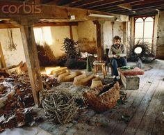 Andy Goldsworthy in His Studio.