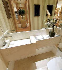 Small Sink, Small Bathroom, Bathroom Ideas, Home Id, Cozy House, Decor Styles, Decoration, Sweet Home, New Homes