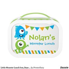 Little Monster Lunch box Boys School Lunch box - decor gifts diy home & living cyo giftidea Gifts For Boys, Boy Gifts, School Lunch Box, Metal Lunch Box, Little Monsters, Back To School, Diy, Gift Ideas, Unique