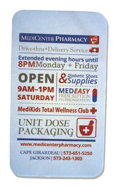 Pharmacy business/service card, by BOLD Marketing.
