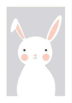 Lamina de un conejo, perfecto para cualquier cuarto infantil | Láminas descargables | Láminas de animales | Láminas bonitas Baby Room, Pikachu, Bunny, Artwork, Cute, Character, Bb, Logo, Bedroom