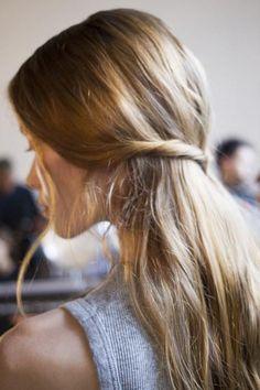 Simple hair twist at Altuzarra Spring 2016