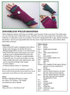 Fingerless Wraparounds PDF knitting pattern