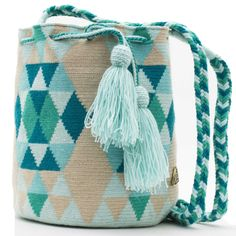 Tapestry Crochet, Hand Knitting, Bucket Bag, Hand Weaving, Reusable Tote Bags, Women's Fashion, Shoulder Bag, Purses, Mini