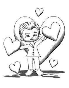 A Neat Boy In A Suit Ready For Valentine's Day Date Coloring Page - Download & Print Online Coloring Pages for Free | Color Nimbus Valentines Day Coloring Page, Online Coloring Pages, Valentines Day Date, Free Coloring, Dating, Suit, Quotes, Formal Suits, Suits