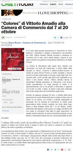 L'arte di Vittorio Amadio: La mostra di Vittorio Amadio a Chieti. Continua la rassegna stampa