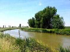 El canal de Castilla, antes de Frómista