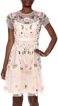 Needle & Thread Sequin Blush Dress