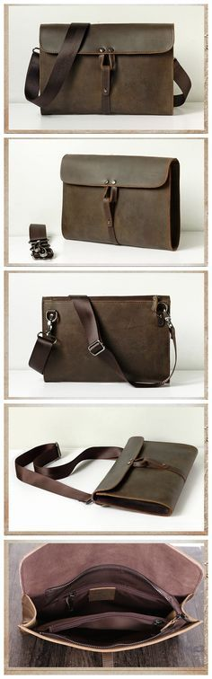 Leather Clutch/Messenger Bag/Shoulder Bag