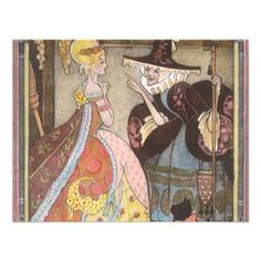 Vintage Cinderella and Fairy Godmother Invitation