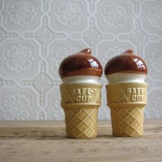 S&P; shakers shaped like ice cream cones.  If I collected S&P shakers I would get them even if I didn't LOVE THEM