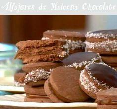 Postre de Alfajores de Maicena de Chocolate