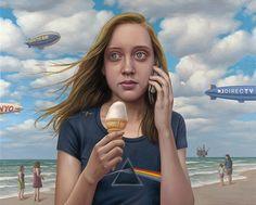 "Dark Side | Oil on Canvas | 25"" x 32"" | 2010 by (NY/ Now LA artist) Alex Gross"