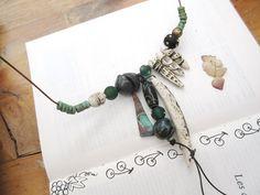 Un collier tribal rustique et primitif pour par annemarietollet