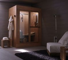 First ever sauna / shower combination.