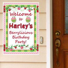 Strawberry Pink Custom Door Greeter, 2 count, x 18 inch 4th Birthday Parties, 3rd Birthday, Birthday Ideas, Baby Girl Birthday Decorations, Strawberry Shortcake Birthday, Pink Parties, Balloons, Thanksgiving, Party Ideas