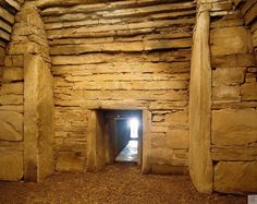 Step inside a 5000 year old burial chamber at Maeshowe, Orkney. #Scotland #History #Castles