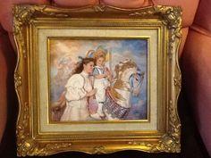 "Sandra Kuck, ""Memories"" porcelain plaque in beautiful frame with cert of authent"
