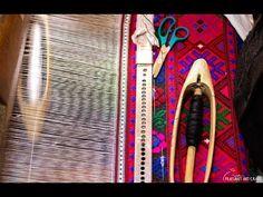 Traditional weaving vibrant patterns in the Romanian village of Drăguș, Brașov County, Transylvania. Local loom weaver Rogozea Ana explains the art of hand p. Weaving Art, Hand Weaving, Art Village, Weaving Designs, Romania, Loom, Artisan, Arts And Crafts, Vibrant