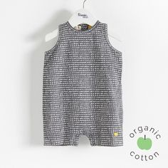 RAFT Organic Cotton Graphite Bubbles Baby Playsuit/Romper