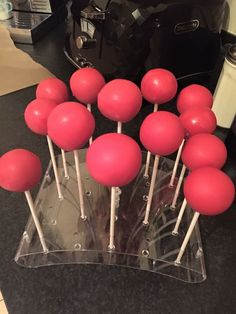 Red Nose Day cakepops