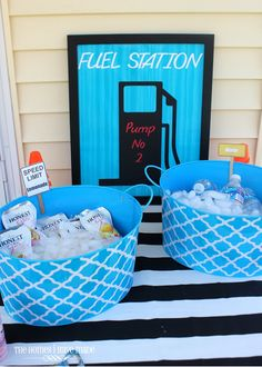 "Keep their engines going at their next Hot Wheels themed party with a ""fuel station""!"
