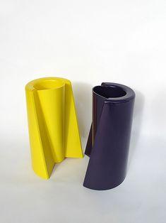 Enzo Mari; Plastic 'Pago Pago' Vases for Danese, 1969.