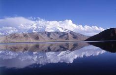 The Karakul is a lake located 196 km from Kashgar, Xinjiang province, China.