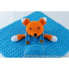 Fox Security Blanket Crochet Pattern
