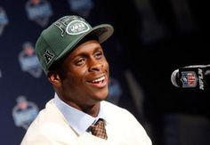 West Virginia's Geno Smith speaks during a news conference after being selected overall by the New York Jets in the second round of the NFL football draft Friday at Radio City Music Hall in New York. Geno Smith, Jets Football, West Virginia University, Radio City Music Hall, New York Jets, Conference, Two By Two, Baseball Hats, Friday
