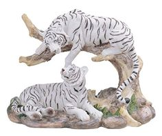 online shopping for Medium Polyresin White Tiger Couple Resting Figurine from top store. See new offer for Medium Polyresin White Tiger Couple Resting Figurine Tiger Artwork, Three Wise Monkeys, Fantasy Dragon, Animal Decor, Collectible Figurines, Animal Photography, Pet Birds, Sculpture Art, Wildlife