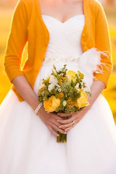 Southern Wedding Ideas: Yellow, Green   White