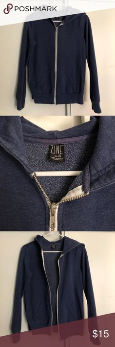 ❣️🎉 Zine (Zumiez) Hoodie Blue Wearable condition, does not come with the white pull strong, size small Zumiez Tops Sweatshirts & Hoodies